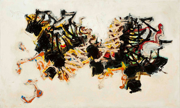 Kamran Diba - untitled, 1961, oil on canvas, 76 x 127 cm (30-x50-), property-US collection